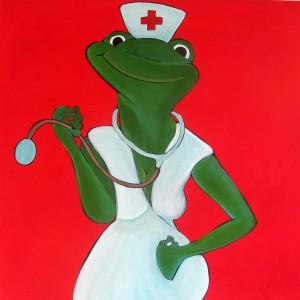 Krankenschwester Frosch