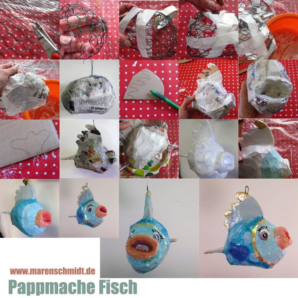 Anleitung für einen Pappmacheefisch