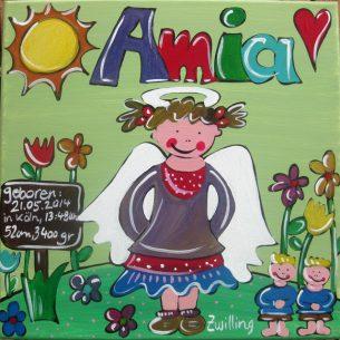 Namensbild zur Geburt für ein Mädchen