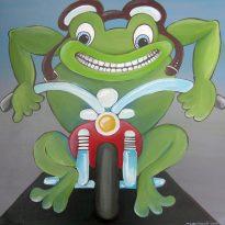 Froschkönig Motorradfahrer