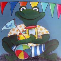 Frosch Kinderzimmerbild