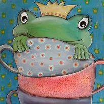 Kinderzimmerbild Tassenfrosch