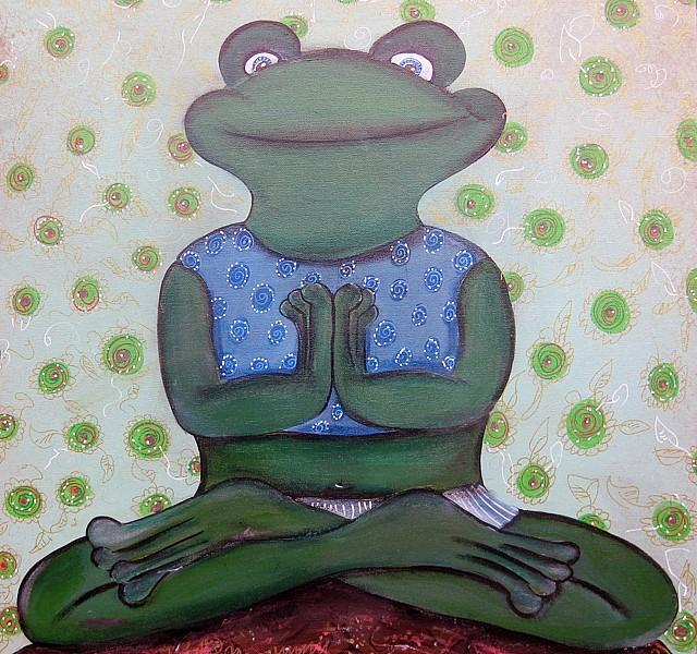 Kinderzimmerbild Yogafrosch