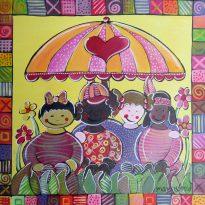 Kinderzimmerbild Nationalitäten
