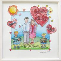 handgemaltes Bild zum Hochzeitstag
