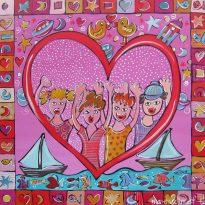 Kinderzimmerbild Pink