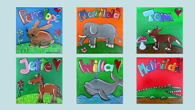 Kinderzimmerbilder - Namensbilder