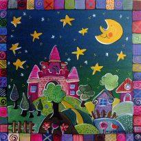 Kinderzimmerbild Märchenlandschaft
