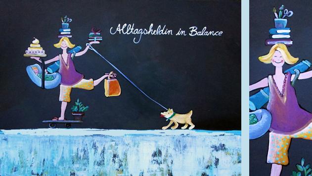 Acrylmalerei mit Humor