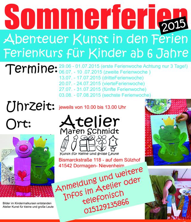 Sommerferien 2015 Ferienworkshop