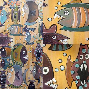freie Malerei - Fische