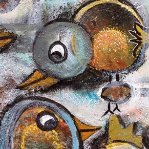 freie Malerei - komische Vögel