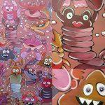 freie Malerei - Krebse