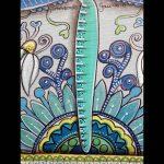freie Malerei Libelle