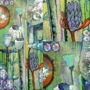 freie Malerei Protea