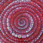 rote Spirale - freie Malerei