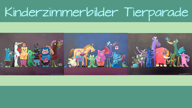 Kinderzimmerbilder - Tierparade