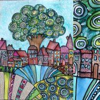 freie Malerei - Landschaftsbild