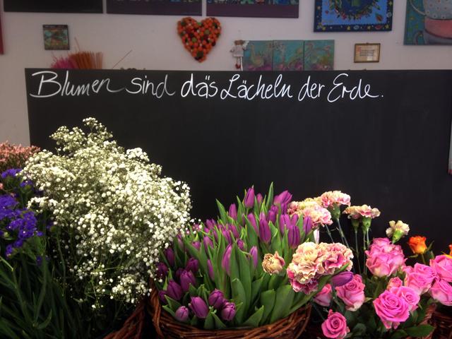 Blumen im Atelier